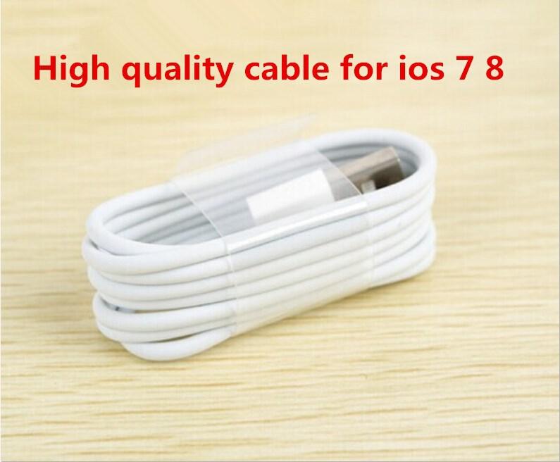 высокое качество tpe материал 8 pin usb адаптер зарядного устройства данных sync кабеля/провода или iphone 5 5s ipod touch идеально подходит для ios 7.1.2/ios 8