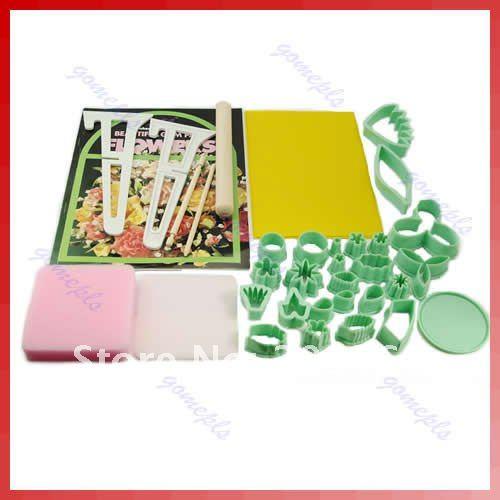 32Pcs Gum Paste Cake Flower Set Tool Cutter Maker Mold(China (Mainland))