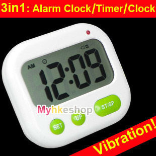 Alarm Clock Timer CountDown Digital LCD 24 hours Kitchen Sport ( Music / Vibration)(China (Mainland))