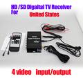 Car Mobile high speed ATSC MH USA Digital TV receiver box 4 video input Output