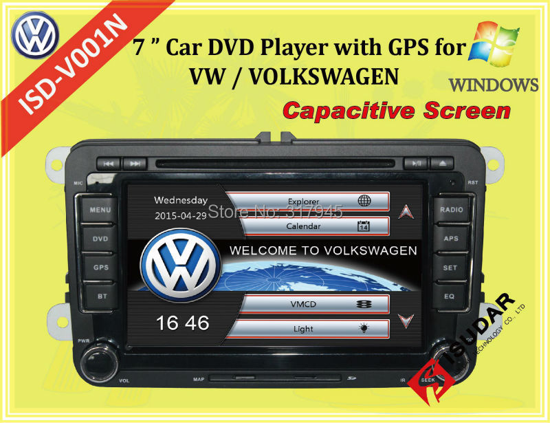 Capacitive Screen! Two Din 7 Inch Car DVD Player For VW/POLO/PASSAT/Golf/Skoda/Seat Wifi 3G Host Radio GPS Bt 1080P Ipod RDS Map(China (Mainland))