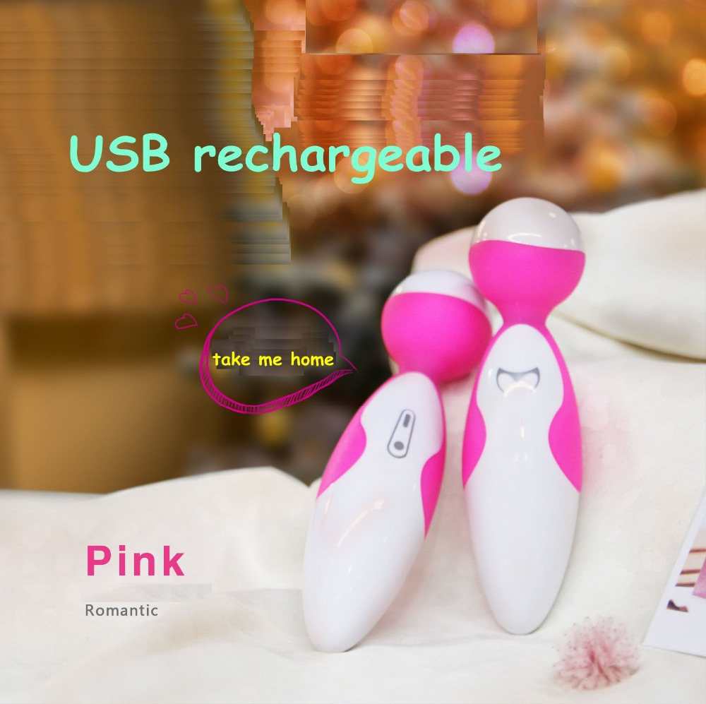 2014 new rechargeable rabbit pocket silicone vibrator vaginal ball for woman magic wand love toy sex product body massager shop(China (Mainland))