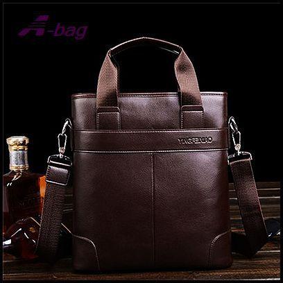 Good quality fashion 2015 hot sale man bag 2 colors briefcase pu leather bag men messenger bags shouder bags AA196(China (Mainland))