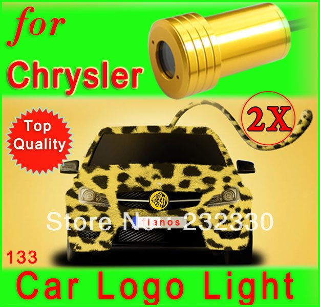 2X Car Auto Vehicle LED Logo Door Courtesy Step Laser Projector Ghost Shadow Welcome Light Lamp for Jeep Chrysler<br><br>Aliexpress