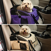Pet Gog Puppy Car Seat Travel Bag Portable Carrier Crate Safe Cage House(China (Mainland))