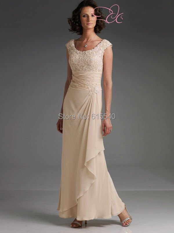 Lace Mother Bride Dress Ankle Length mother groom outfits - FashionLive store