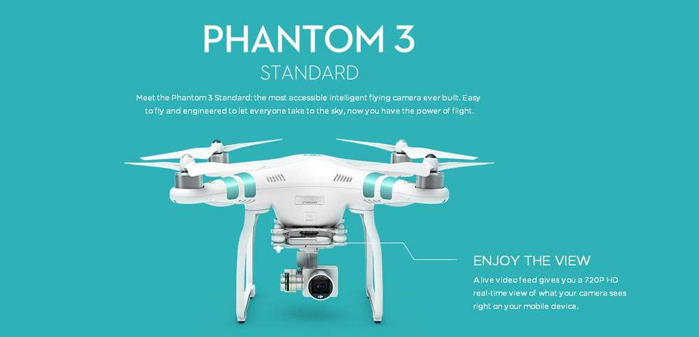100% Original DJI Phantom 3 Standard FPV With 12MP Camera Shoots 2.4K Video RC Quadcopter RTF