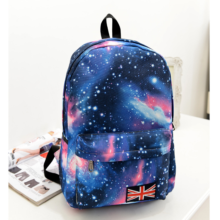 2015 new Korean women striped canvas bag sky backpack blue shopping and leisure travel backpack computer bag schoolbag mochila(China (Mainland))