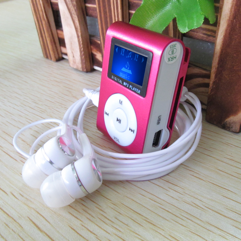 New Portable LCD Screen Mp3 Player Mini Clip Metal Mp3 Music Player With TF SD Card