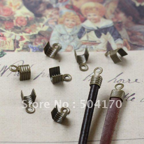 2000pcs/lot Bronze Iron Cord Ends Caps Leather Crimps Fit 2.5mm Round /3*3mm Square Adapter Connector<br><br>Aliexpress