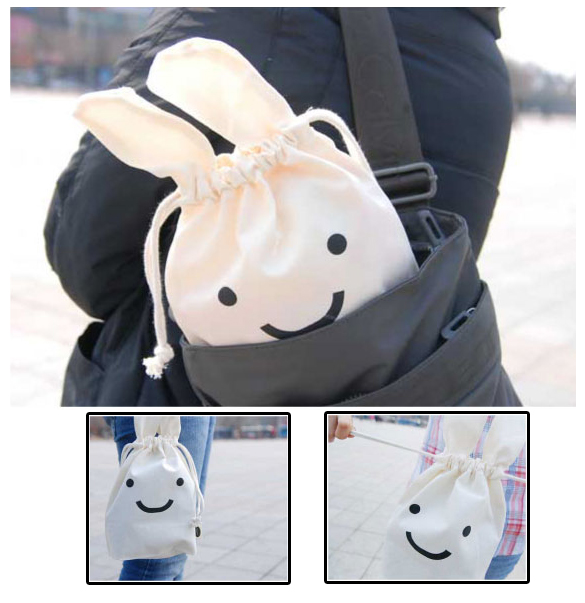 1 PCS Soft Cotton Multifunction Rabbit Shrink Bag Pouch Cute Cosmetic Bag Protable Make up Storage Bags hot Sale Free Shipping(China (Mainland))