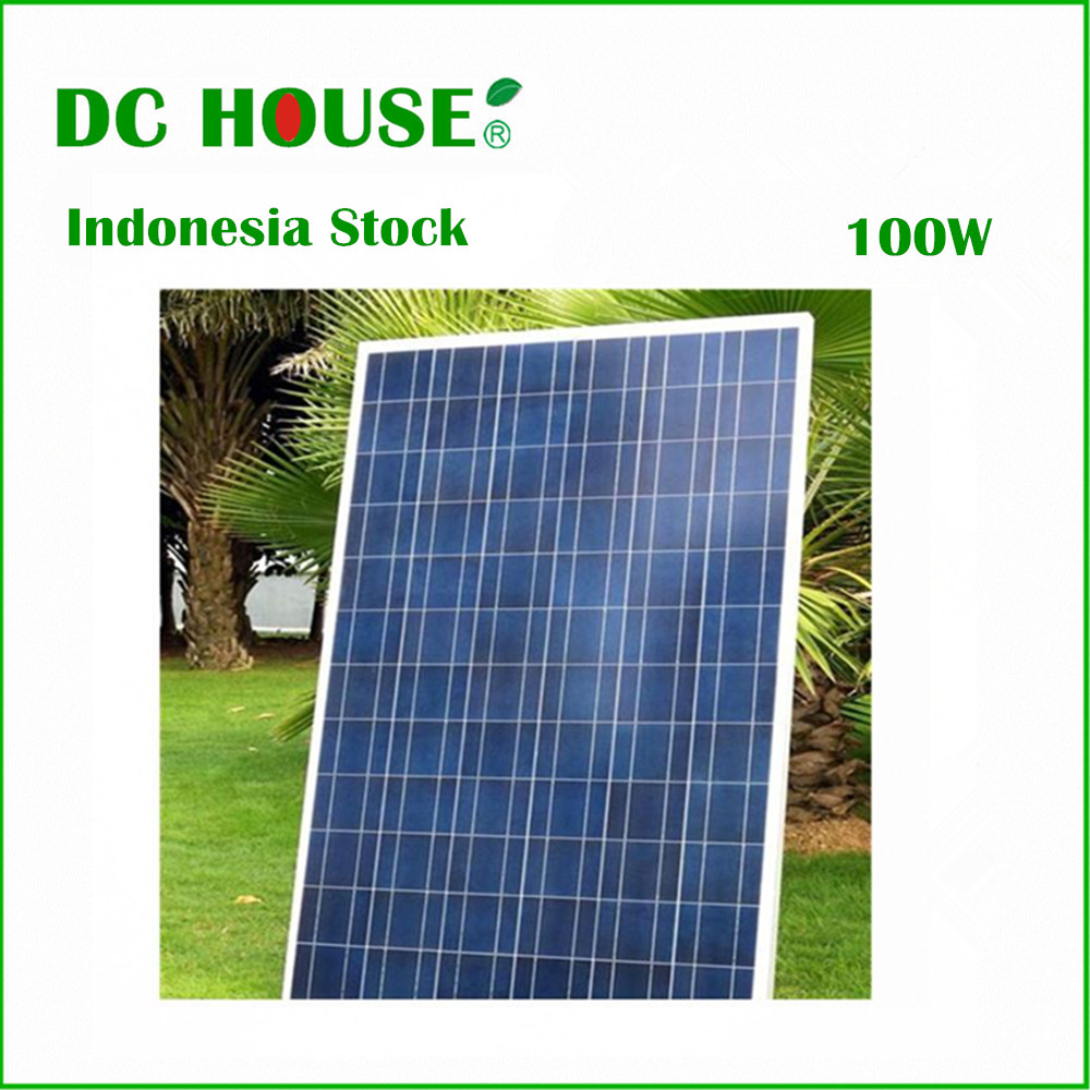 Indonesia Stock Solar Panel 100W 12V Polycrystalline Solar Panel PV DC Solar Moduel RV Solar Battery Charger(China (Mainland))