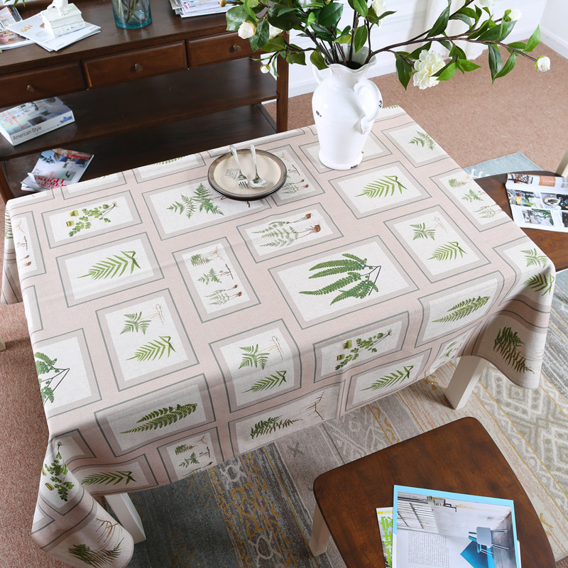wholesale american country style tablecloth thick cotton linen dining table cloth light yarn diffuse dance series custom made american country style font