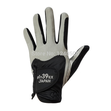 Free Shipping 1 Pcs Fit 39 EX Golf Gloves Men's Golf Gloves Left Hand, Color Black & Grey(China (Mainland))