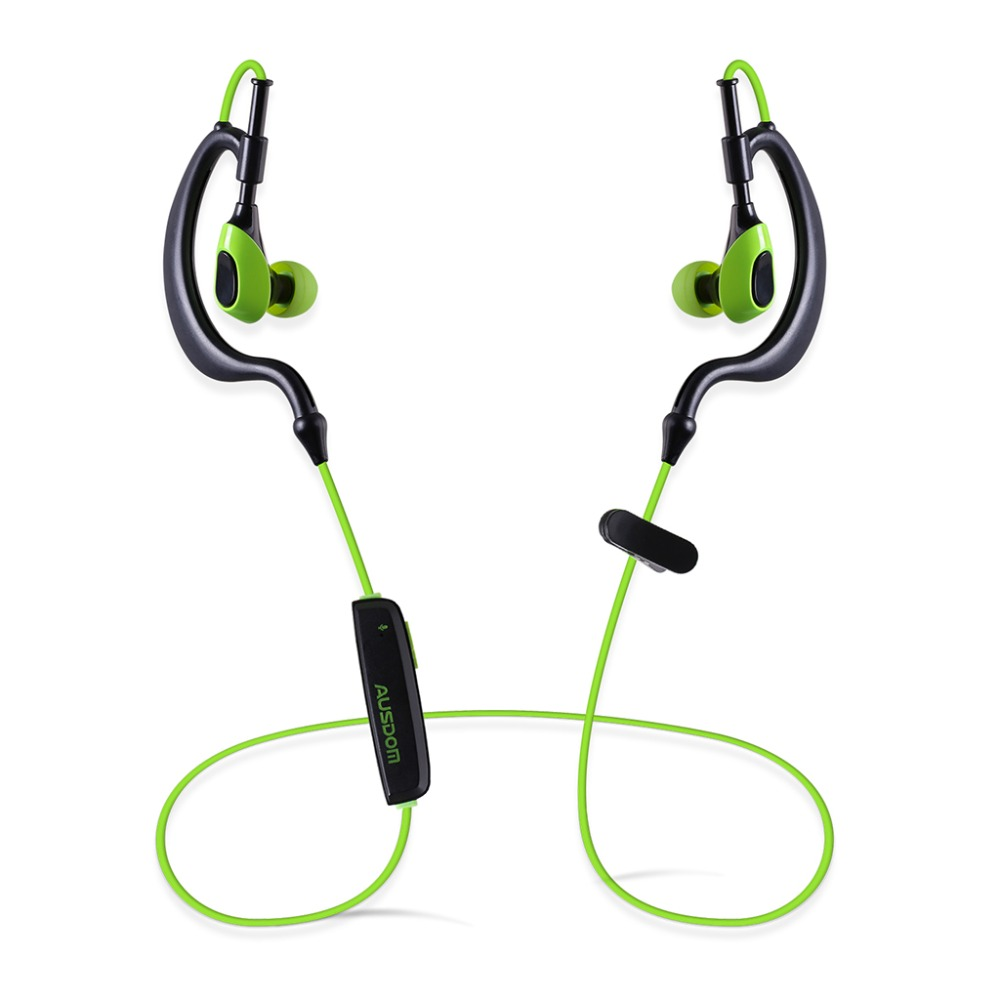 AUSDOM S09 Sports Bluetooth earphone Headset Wireless 4.1 Stereo Handsfree In-ear Earphone Music Player for Phone Tablets PK S10(China (Mainland))