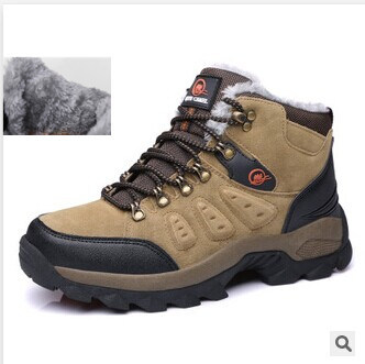 New mens shoes brand  anti-skid mountain climbing boots  breathable outdoor hiking shoes snow boots(China (Mainland))