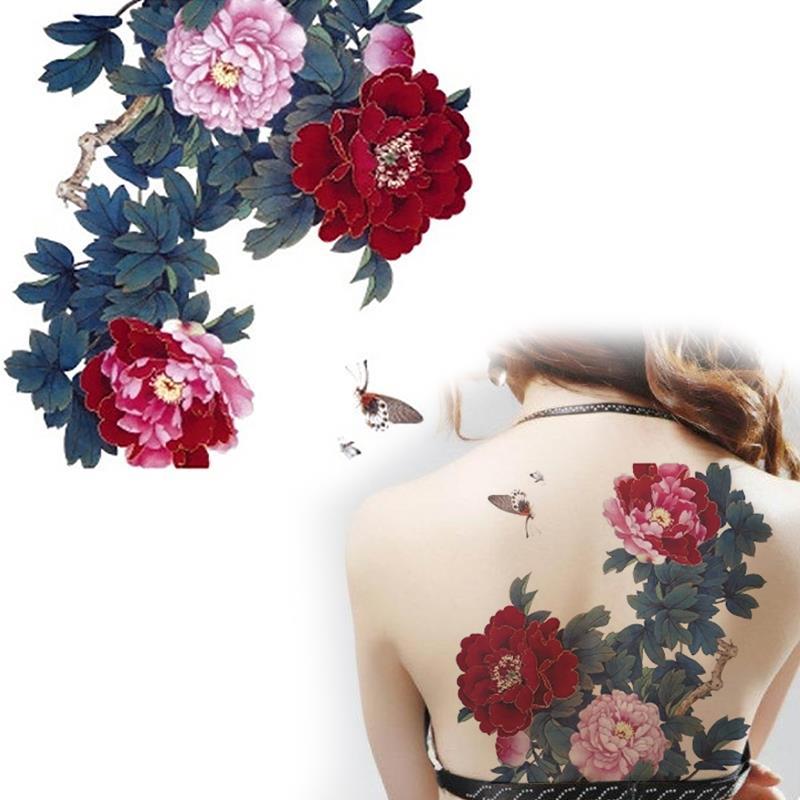 chinesische blumen tattoo werbeaktion shop f r werbeaktion. Black Bedroom Furniture Sets. Home Design Ideas