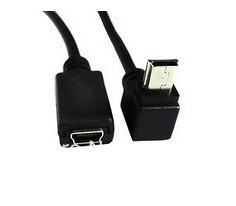 GPS Mini USB 5P 90D Up Direct Angled Male to Mini USB 5P Female Extension Cable