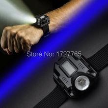 3 Вт из светодиодов 5 модель встроенный дисплей аккумулятор тактический свет утро / ночь выполнить наручные лампы фонарик