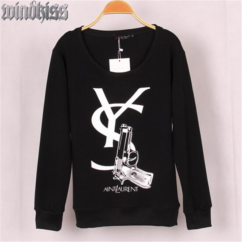 2016 new spring creative letters logo printing pullover lovers couples fleece sweatshirt plus size 2 colors tracksuits 40%off(China (Mainland))