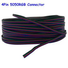20 m 4 pin RGB Led Conector de 4 Hilos Cable de Extensión eléctrica cable de Iluminación para rgb 3528 y 5050 tira llevada envío libre(China (Mainland))