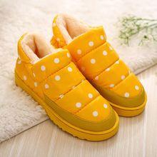 2016 Más El Tamaño 35-44 Mujeres Botas de Nieve de Invierno Cálido Botines de Plataforma Plana y Resistente Al Agua Zapatos Caseros(China (Mainland))