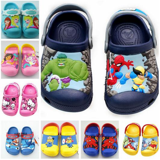 new 2016,elsa anna,hello kitty,dora,spiderman,3D cartoon beach Sandals,baby boy girl shoes,kids shoes,boys girls shoes(China (Mainland))