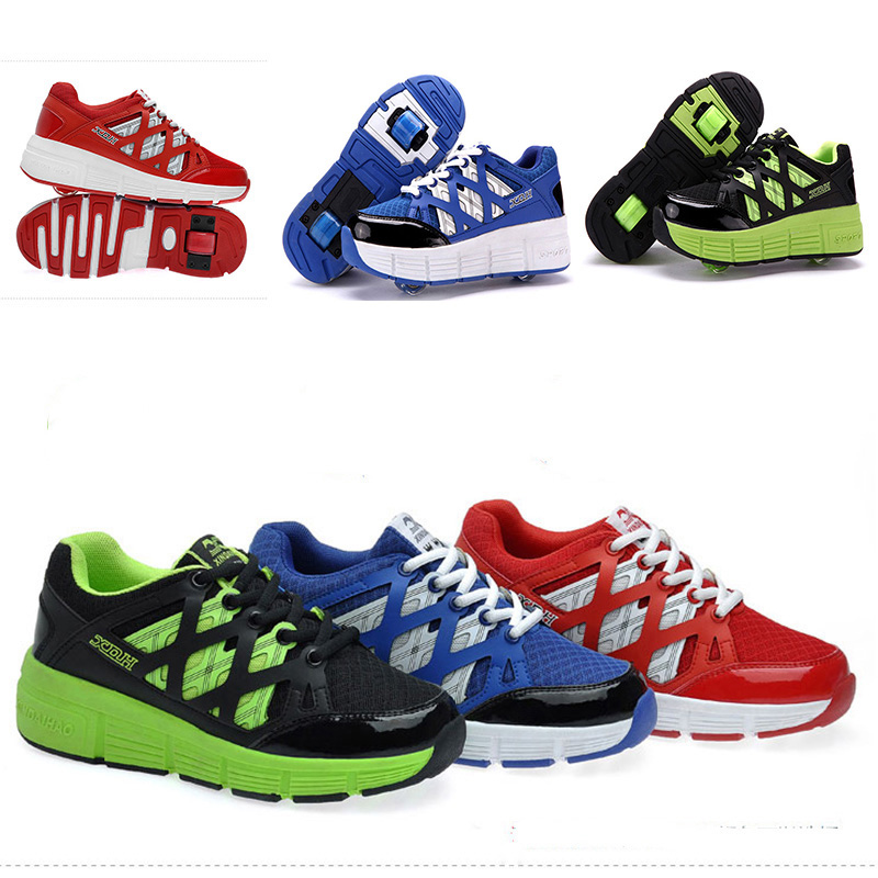 Children Heelys Roller Shoes sneakers With Wheel Kids Breathable Sneakers one/two Wheels Skate Roller Shoe Zapatillas Con Ruedas<br><br>Aliexpress