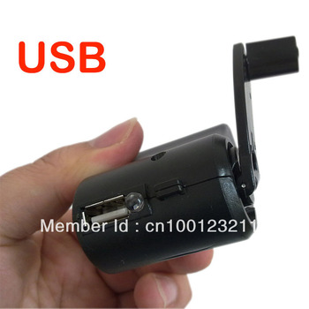 USB Hand Power Dynamo Torch Charger