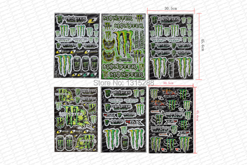 6pcs Decals Stickers for pit bike dirt bike motorcycle motocross supermoto Cross motorcycle scooter ATV for KAWASAKI Honda Car(China (Mainland))