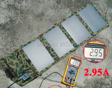 High Quality 14 Watt Portable Solar Charger for iPhone Mobile Phone iPad Tablet Outdoor Camping Travel Solar USB Battery Charger(China (Mainland))
