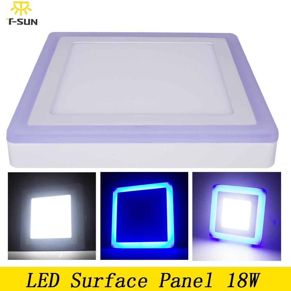 Bedroom led panel lights 18W Ceiling Square led mounted magnetic led panel light round bathroom 2835 SMD AC 85V-265V(China (Mainland))