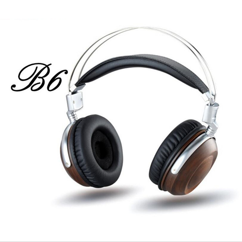BOSSHiFi B6 Wood Headphones HIFI Over Ear 50mm Unit Super Bass Headphones Professional Noise Cancelling PC Headset Casque Audio(China (Mainland))