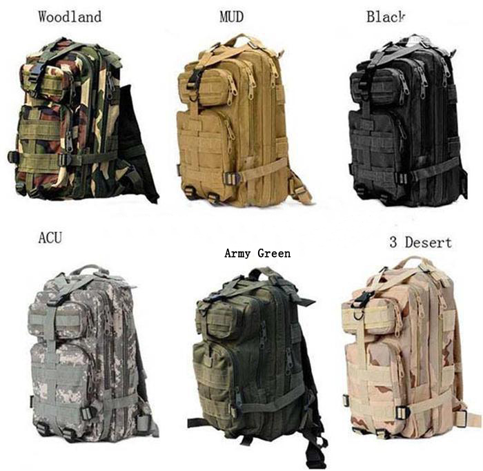 30L Outdoor Sport Military Tactical Backpack Molle Rucksacks Camping Trekking Bag 30pcs DHL Fedex Free shipping(China (Mainland))