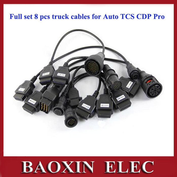 Newest Full set 8 pcs truck cables obd2 diagnostic OBD OBDII OBD2 OBD 2 connecter for Autocom DELPHI DS150E CDP Pro (China (Mainland))