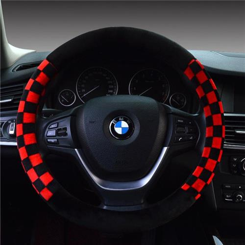 Cheap Car Steering Wheel Covers Skidproof 3 Spoke Steering Wheel Covers for All Cars Flocking Fabric and Rubber Material(China (Mainland))