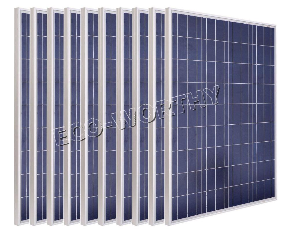 1KW-10x100Watt Photovoltaic Solar Panel 12V pv solar home module cabin recharge(China (Mainland))