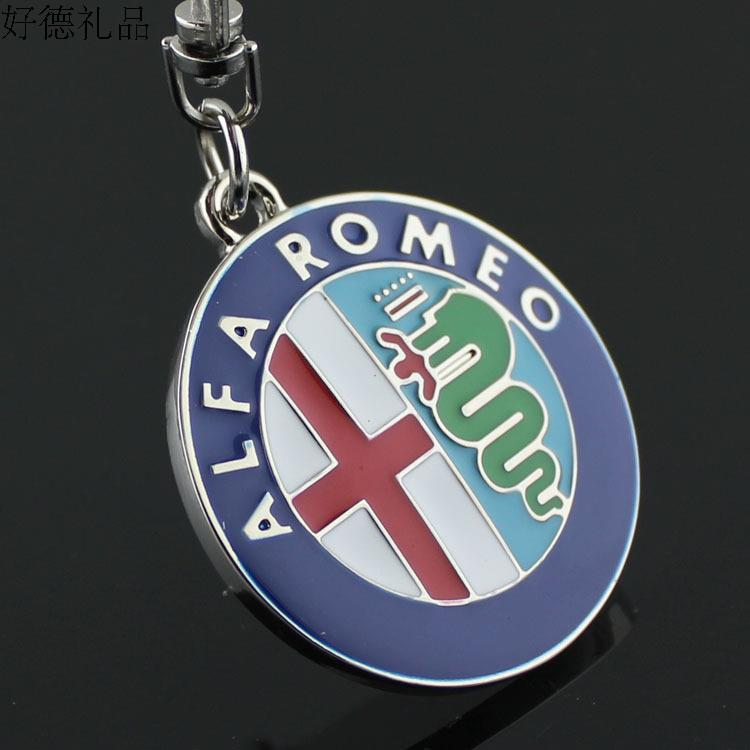 1 pcs Metal Decorations For alfa romeo 159 3D Car alfa romeo Keychain Men's key pendant best Christmas gift(China (Mainland))
