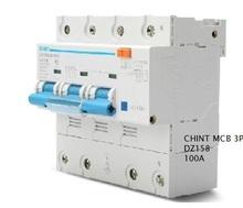 Обеспечение безопасности CHINT MCB 3 P 100A высокой мощности мини электроустановочный переключатель датчик защиты двигателя
