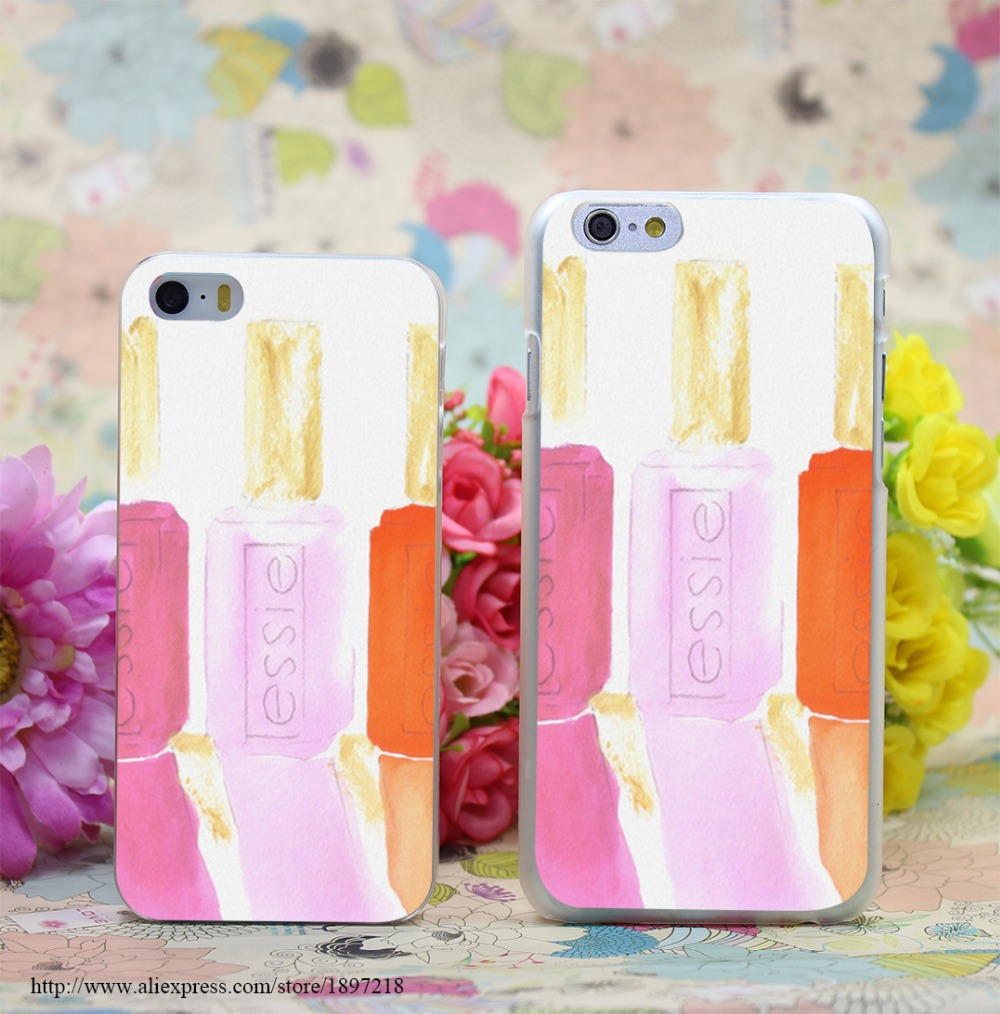 1048W Essie In Pink Transparent Hard Case Cover for iphone 6 6s plus 4 4s 5 5s 5c Clear Phone Cases(China (Mainland))