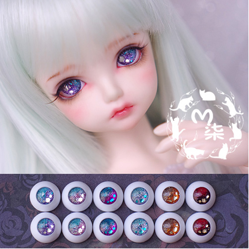 1Pair Retail Mini Doll Accessories High Quality Acrylic 12MM 14MM 16MM   BJD MSD Eyes For BJD Dolls<br><br>Aliexpress