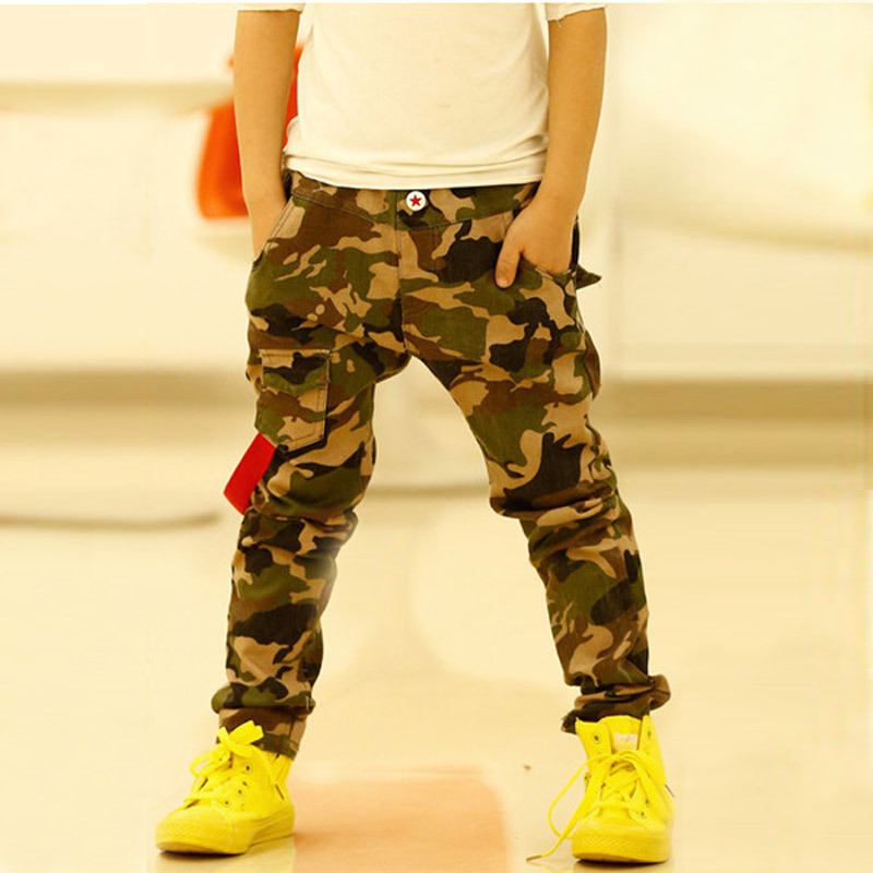 Free Shipping 2015 Children'S Fashion Trousers Jeans For Boys Camouflage Baby Boys Jeans Pants Elastic Kids Jeans K02(China (Mainland))