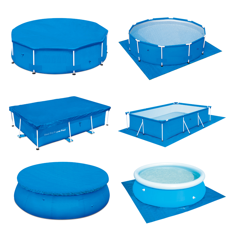 Glory GB0001 58032 aboveground thickening round 8ft PE pool cover suitable for Bestway and Intex pool(China (Mainland))