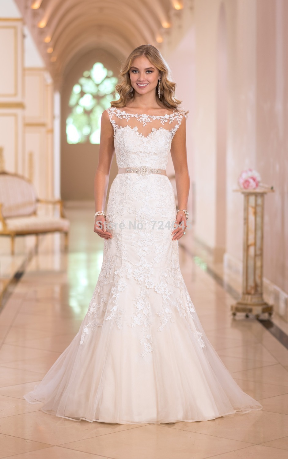 Stella sexy and luxurious new york mermaid wedding dress for New york wedding dresses online