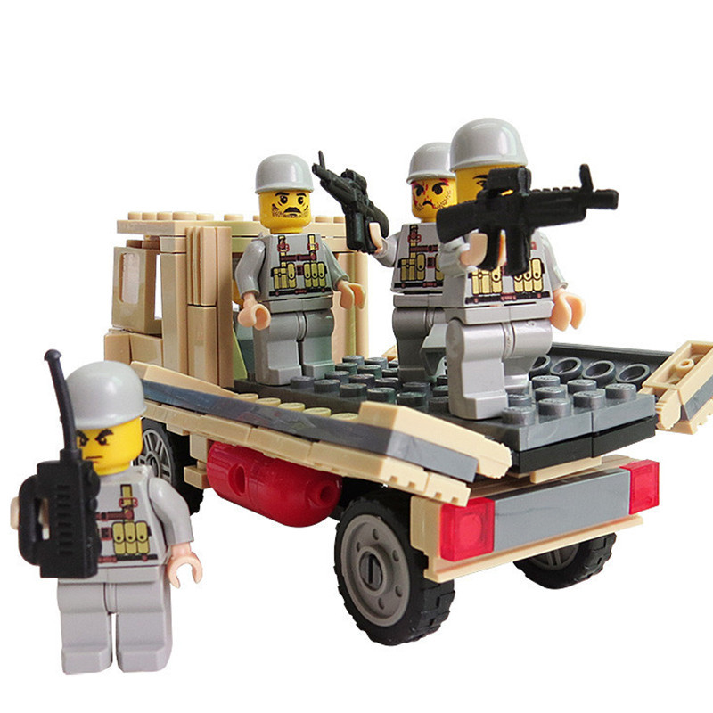 2016 Combat Troops Personnel Carriers Army Truck Building blocks Toys For Children Military Bricks kids Educational toys(China (Mainland))