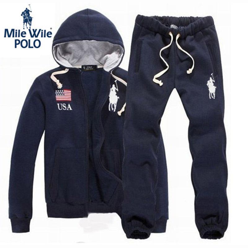 Hot Sale Men's Brand Tracksuit Cotton Zipper cardigan Sport Suits Men Hoodies Sportswear Fashion Jacket + Pants sweatshirt