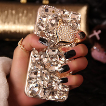 Bling Fox Crystal Diamond Phone Case For Iphone 7 6 6S Plus 5S 5C 4 Samsung Galaxy Note 7 5 4 3 2 S7 S6 Edge Plus S5/4/3 A5/7/8(China (Mainland))