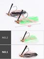 2016 2pcs lot Bright colors bearded head soft fishing bait artificial tools  1606730