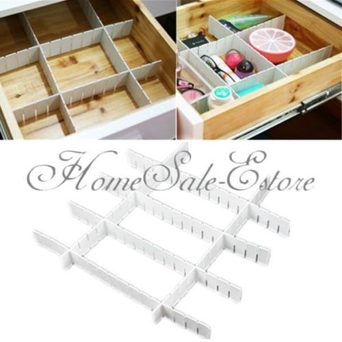 Home Cleaning Organizer 6Pcs Home Kitchen Tidy Plastic Grid Drawer Divider Container Storage Organizer(China (Mainland))