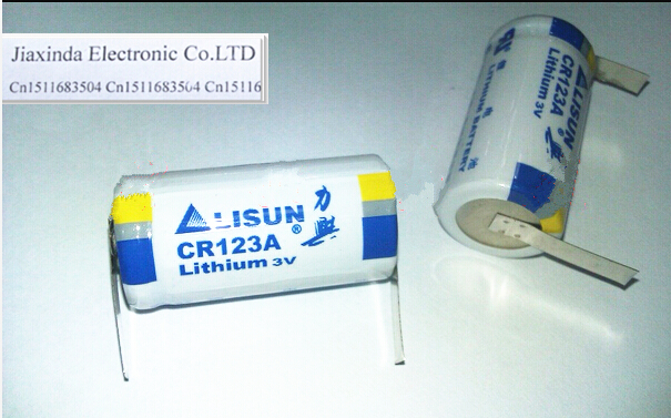 HOT NEW LISUN CR123A CR123 123A 123 3V 1500mah lithium battery with welding(China (Mainland))